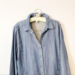 Eileen Fisher Dresses - Eileen Fisher Chambray Button Front Shirt Dress